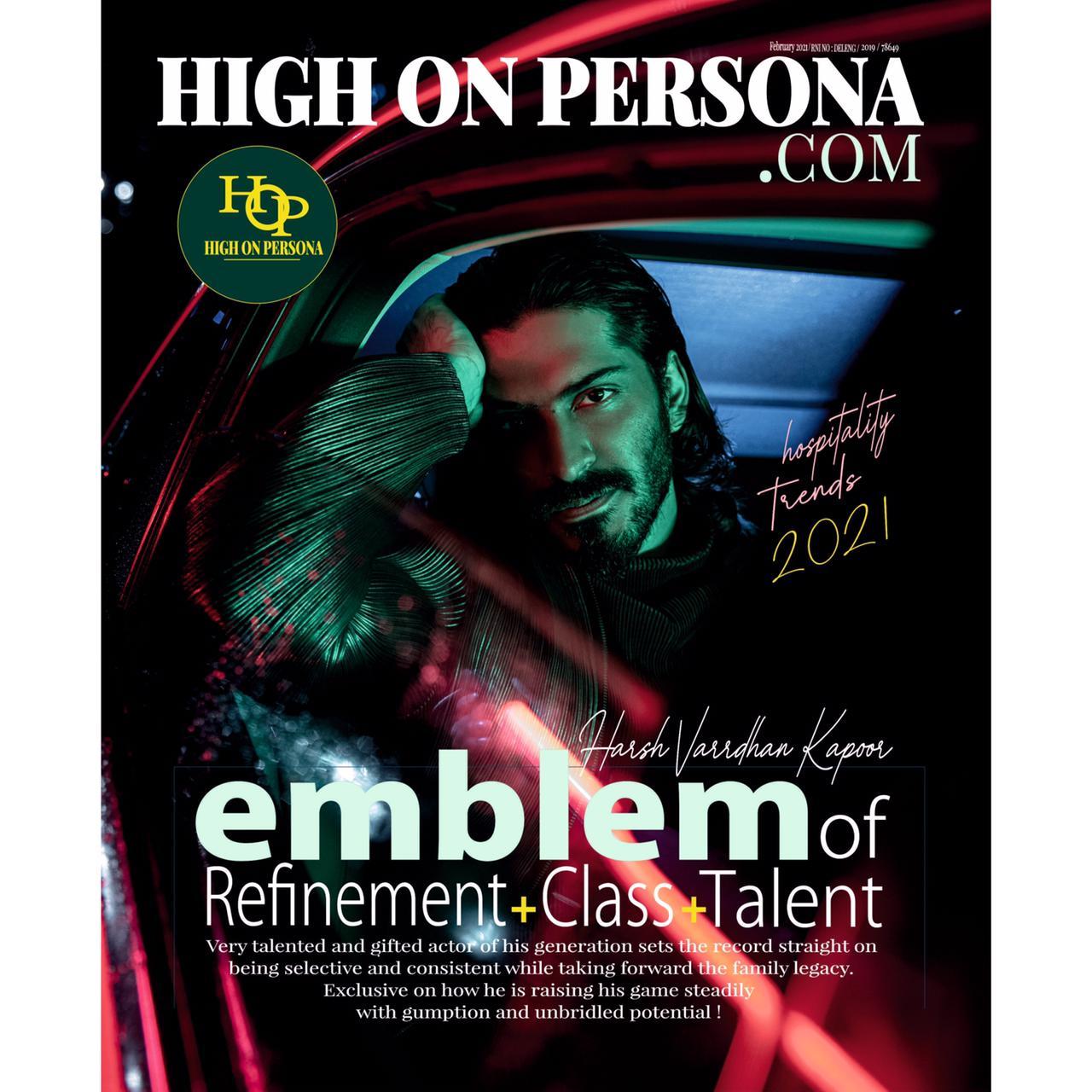 Harshvarrdhan Kapoor High On Persona Magazine Cover